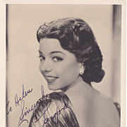 Fran Langford Authentic Vintage 1930s Vintage Signed Autograph Photo