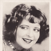 Clara Bow Original Vintage 1930s Fan Photograph With Printed Signature