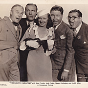 Bing Crosby & Jack Oakie Original Vintage 1933 Movie Still &quot; Too Much Harmony &quot;
