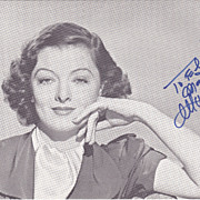 Myrna Loy Original Signed Autograph1985 Tribute Invitation Carnegie Hall
