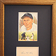HOF Bill Dickey Authentic Vintage Signed Autograph Presentation Display