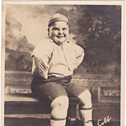 Our Gang Joe Cobb Authentic Vintage Signed Autograph 1920s Photo