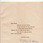Ketti Gallian Vintage TLS on a MGM Studio Form Fan Letter