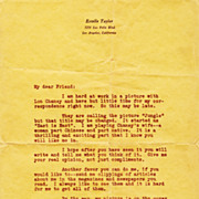 Estelle Taylor Vintage 1920s Fan Letter With Secretarial Signature - Mrs. Jack Dempsey