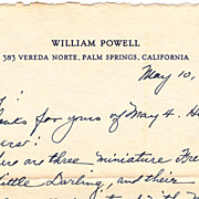 William Powell Vintage 1953 (4 Page) Hand Written Letter To Harry Evans