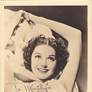 Marjorie Weaver Original Vintage 1930s Signed Autograph Photograph