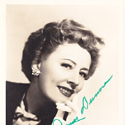 SALE Irene Dunne Original Vintage Signed Autograph Photo