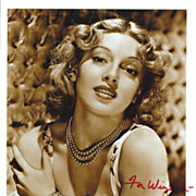 SALE Lana Turner Vintage Signed Autograph Photograph