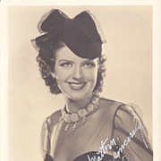 SALE Helen Wood Original Vintage Signed Autograph Photograph
