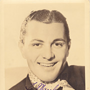 SALE Tony Martin 1930s Original Vintage Signed Autograph Photograph