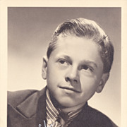 Mickey Rooney Authentic Vintage 1930s Signed Autograph Photo