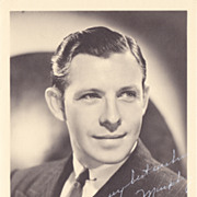 George Murphy Authentic Vintage 1930s Signed Autograph Photo