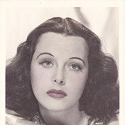 Hedy Lamarr Authentic Vintage 1930s Signed Autograph Hand Colored Photo
