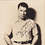 Jack Dempsey Vintage 1932 Signed Autograph Photo to Harry Evans