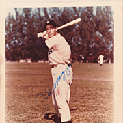 Joe DiMaggio Vintage Signed Autograph Photograph