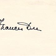 Frances Dee Vintage Signed Autograph Index Card