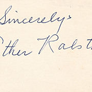 Esther Ralston Vintage Signed Autograph Index Card - Silent Film Star