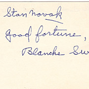 Blanche Sweet Vintage Signed Autograph Index Card - Silent Film Star