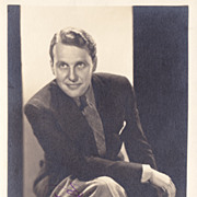 Ralph Bellamy Authentic Vintage 1933 Signed Autograph Photo