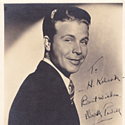 Dick Powell Authentic Vintage 1930s Signed Autograph Photo