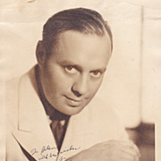 Jack Benny Authentic Vintage 1936 Signed Autograph Photo by Maurice Seymour