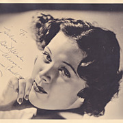Eleanor Powell Authentic Vintage 1930s Signed Autograph Photo
