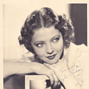 Sylvia Sidney Authentic Vintage 1937 Signed Autograph Photo