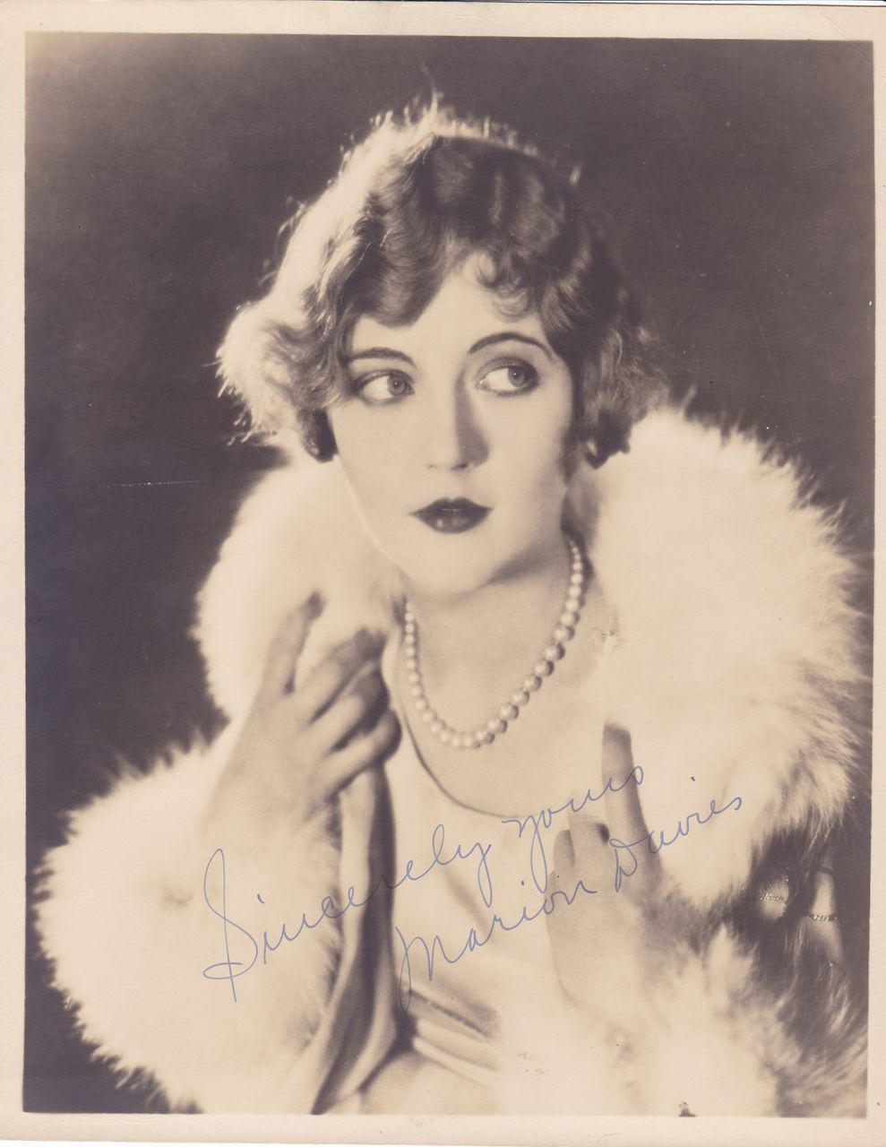 Marion Davies Authentic Vintage 1930s Signed Autograph Photo