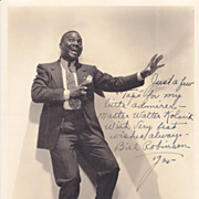 Bill 'Bojangles&quot; Robinson Authentic Vintage 1935 Signed Autograph Photo