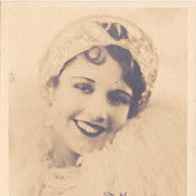 June Collyer Authentic Vintage 1928 Signed Autograph Photo