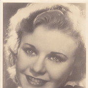 Ginger Rogers Authentic Vintage 1930s Signed Autograph Photo