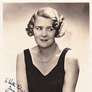 Ruth Donnelly Authentic Vintage 1934 Signed Autograph Photo by Hurrell