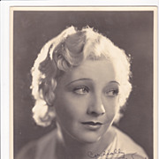 Helen Twelvetrees Authentic Vintage 1930s Signed Autograph Autrey Photo