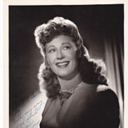 Joan Davis Authentic Vintage 1930s Signed Autograph Ted Allan Photo