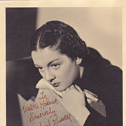 Rosalind Russell Authentic Vintage 1935 Signed Autograph Photo