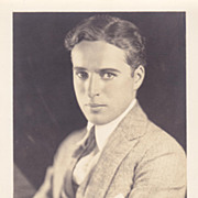 SOLD Charlie Chaplin 1928 Photograph with Stamped Autograph