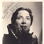 Sara Haden Authentic Vintage 1930s Signed Autograph Photo