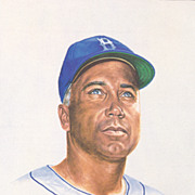 SOLD HOF Duke Snider Authentic Signed Autograph On A 1989 Ron Lewis Print