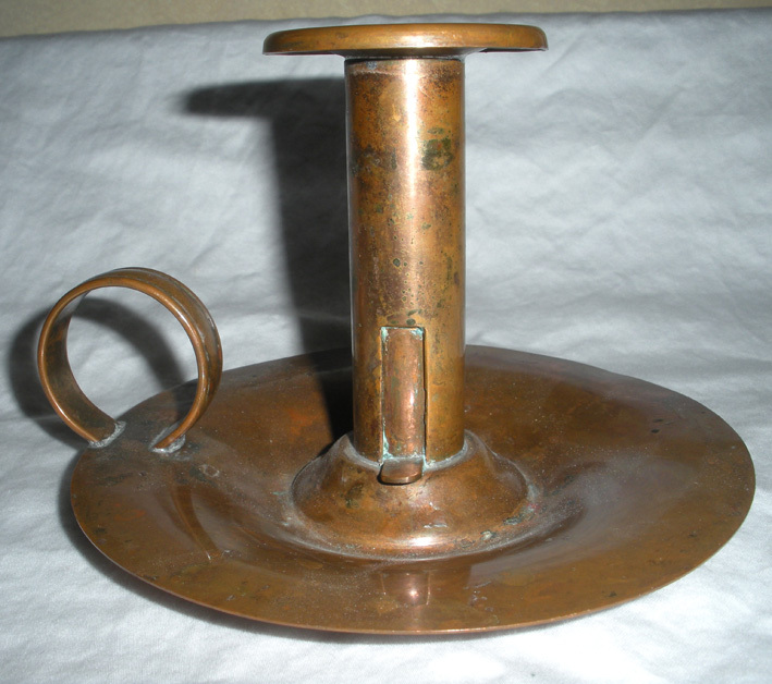 Vintage Venetian Copper Candle Holder With Finger Loop From Onostalgia On Ruby Lane