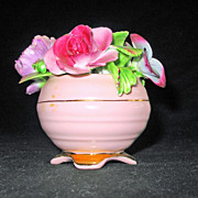 SALE Adorable Bone China Pink Flower Pot by Radnor