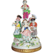 Adorable Dresden Porcelain Figurine Group - signed.