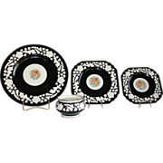 Gorgeous �Rhapsody� set of dishes by George Jones & Sons of England. Pre-1921
