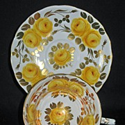 "Grosvenor China ""Tea Rose"" A533  Yellow Roses"