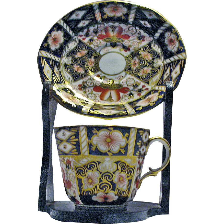 Royal Crown Derby Bone China Cup & Saucer Imari Pattern #2451