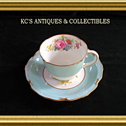 Royal Crown Derby in the Rosemary Celedon pattern (A277) hand painted and signed by artist, F.