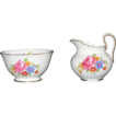 Royal Chelsea English Bone China Sugar Bowl & Matching Creamer