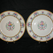 Two Gorgeous 8 � inch Ivory Colored Plates by Rosenthal Pattern Name: Belrose