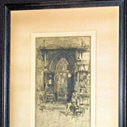 Priory Church of St. Bartholomew �The-Great an Etching by Hedley Fitton