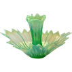 Fostoria Heritage Green Opalescent Epergne with Single Lilly