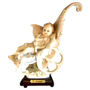 Giuseppe Armani Porcelain Figurine �First Ride� Baby in Stroller Magic Memories 1986
